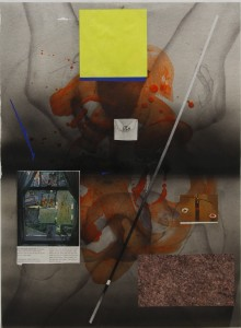 """Sayre Gomez, """"Formal Exercise: Make and Do #2,"""" 2008, collage"""