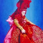 Vlasta Smola 'Red Dress Too' Acrylic on Canvas