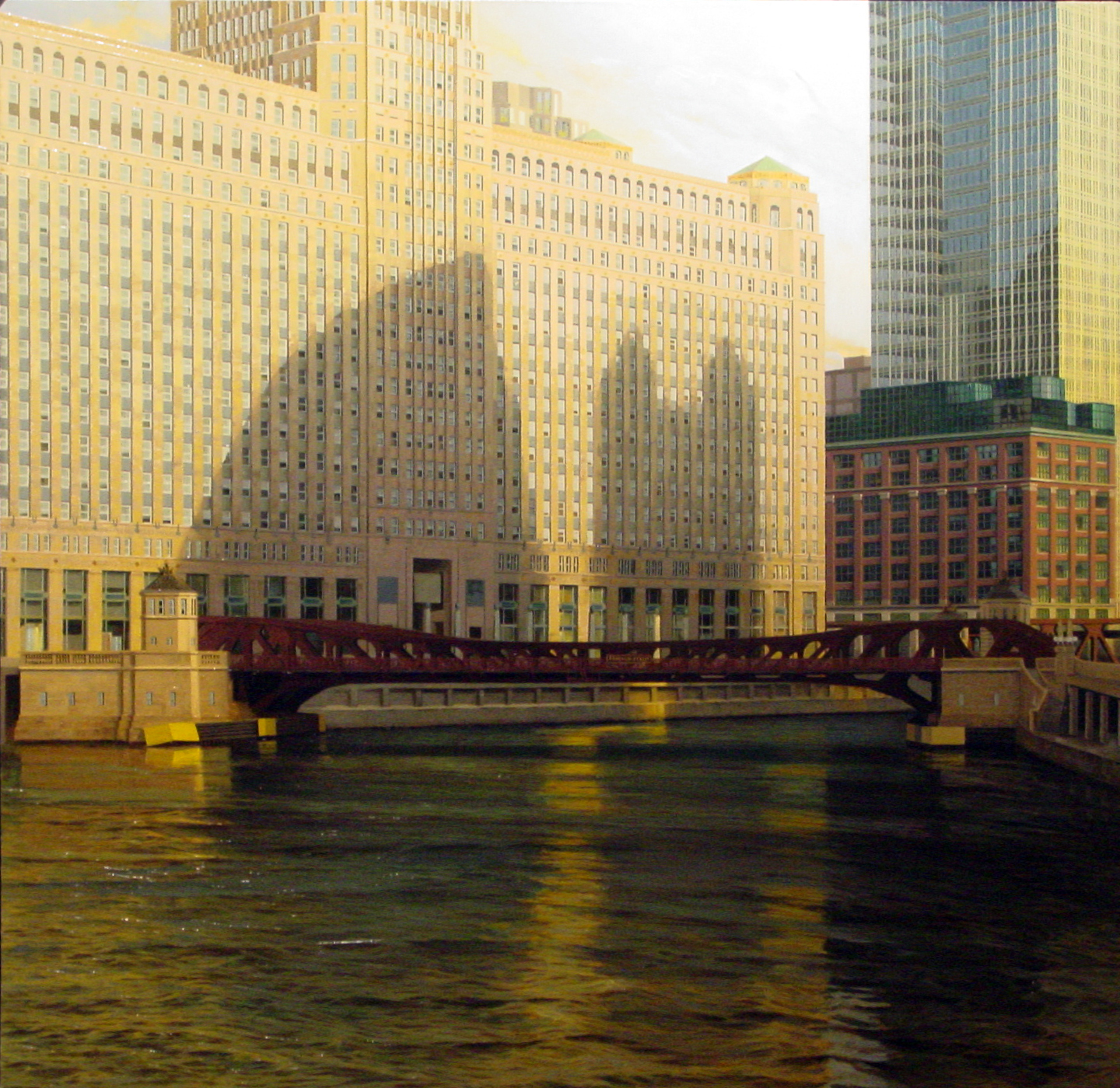 "Enrique Santana, ""Merchandise Mart,"" oil on canvas (2009) Courtesy Ann Nathan Gallery, Chicago"