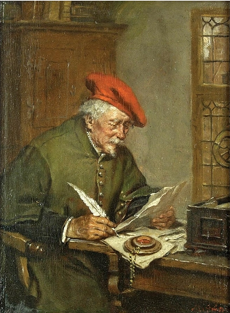 Max Gaisser (1857-1922), &quot;The Notary Public&quot;