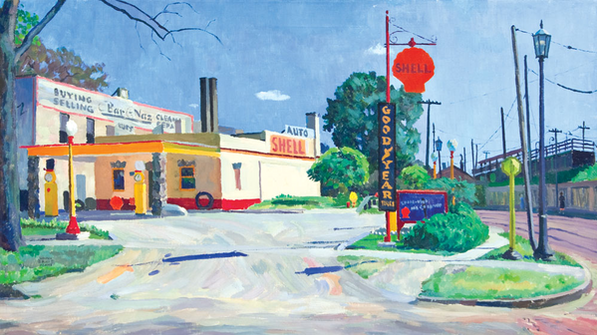 """Out of Service,"" oil on canvas , 1935"