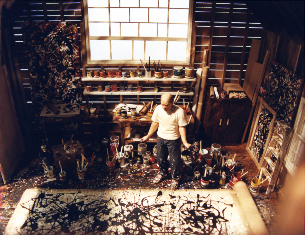 "Joe Fig,"" Jackson Pollock 1951, 2002."" Interior view, courtesy Ronnie and John Shore."