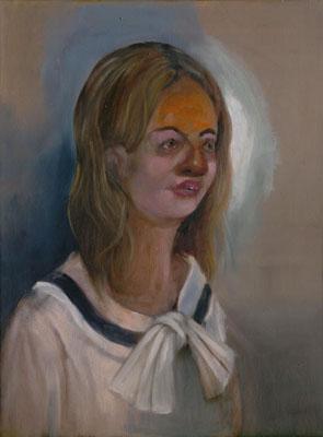 """Catherine,"" oil on canvas"