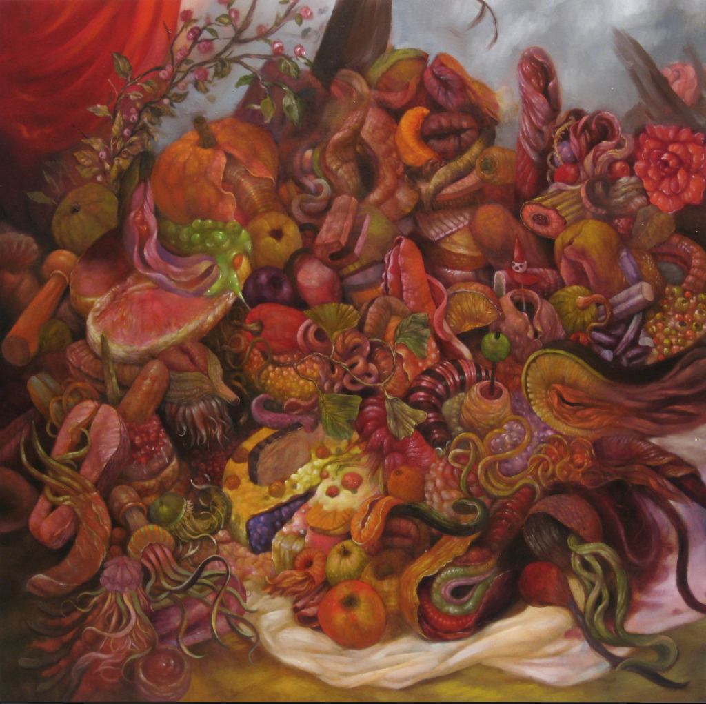 """""""Yellow Pile,"""" oil on panel, 2009"""