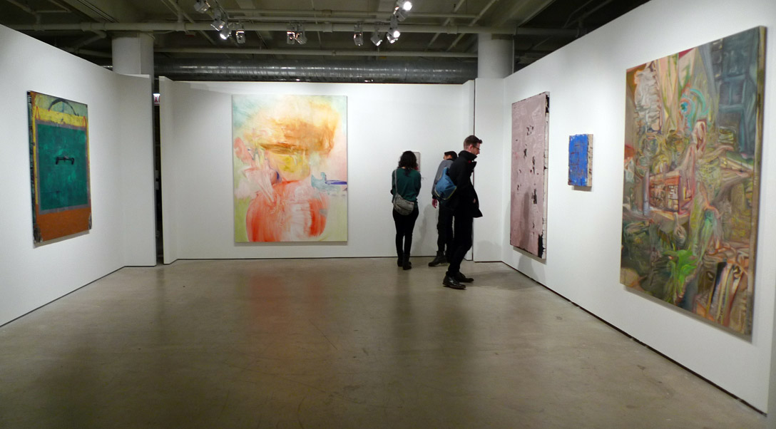 Painting was scarce at SAIC's MFA 2013, and most of it was applied lightly.