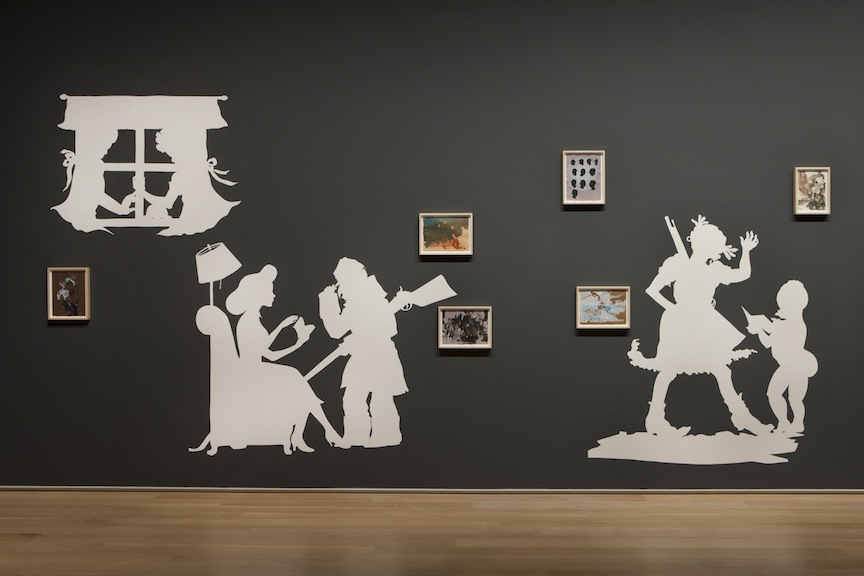 "Kara Walker, ""Rise Up Ye Mighty Race!"" (detail), 2013."