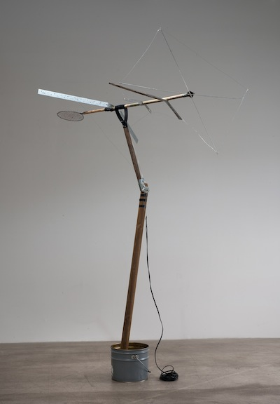 """Amalia Pica, """"Reconstruction of an Antenna (As seen on TV),"""" 2009."""