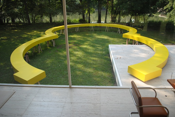 Osvaldo Romberg at the Farnsworth House. Photo: Alia Pergala