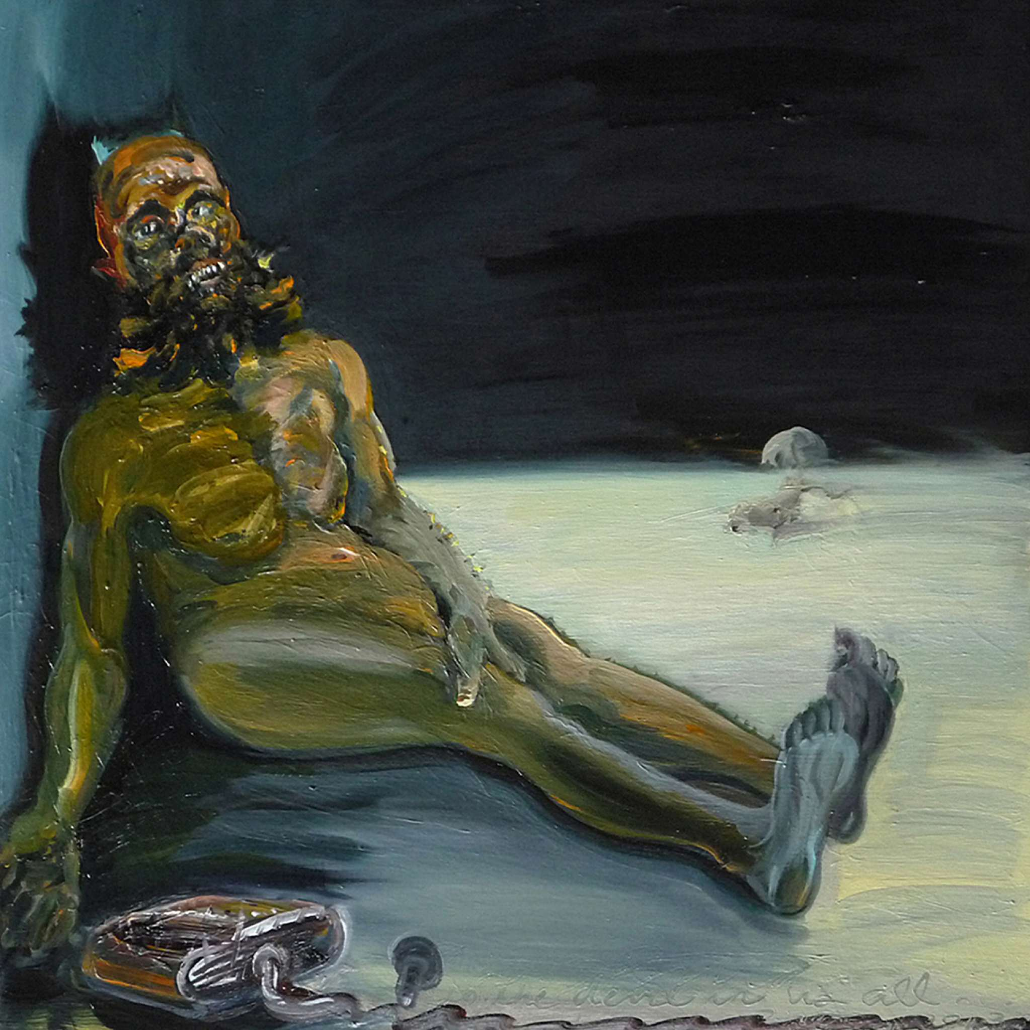 """Drunken Devil,"" oil on panel, 2013"
