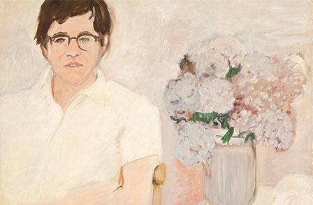 """""""Portrait of Kenneth Koch,""""  oil on linen, c. 1966"""