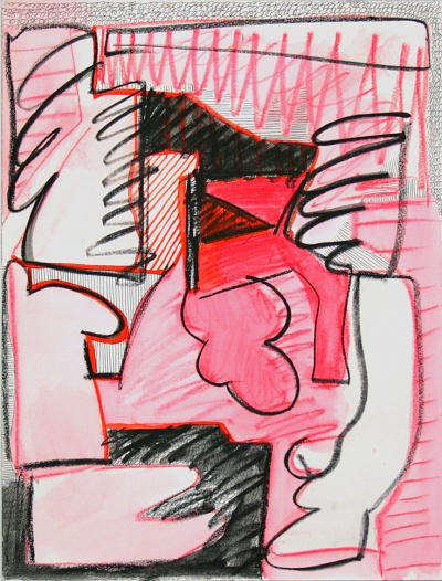 """""""Untitled (C.D.),"""" mixed media on paper, 2013"""