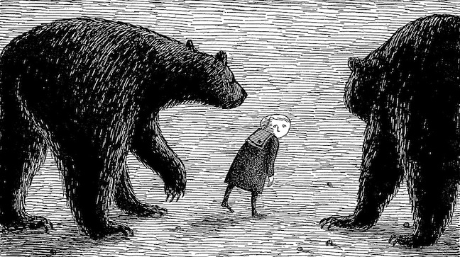 Illustration (detail) from The Gashlycrumb Tinies, 1963, © The Edward Gorey Charitable Trust. All rights reserved.