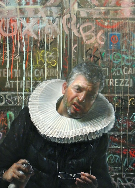 "Bruno Surdo,  ""Self Portrait (Ecco L'uomo),"" oil on linen, 2013."