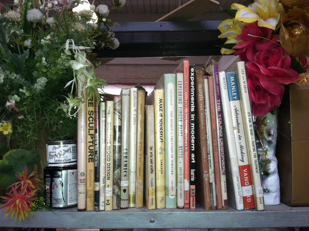 Mindy Rose Schwartz's art studio library