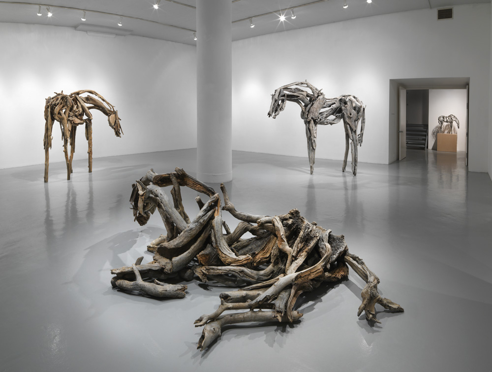 "Deborah Butterfield. ""New Sculptures"" installation view, Zolla/Lieberman Gallery"
