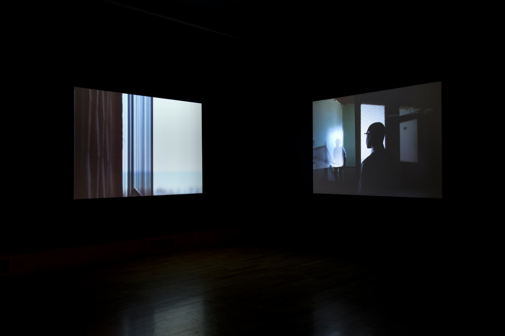 "Leslie Hewitt. ""Untitled Structures,"" dual channel video installation, 2012"
