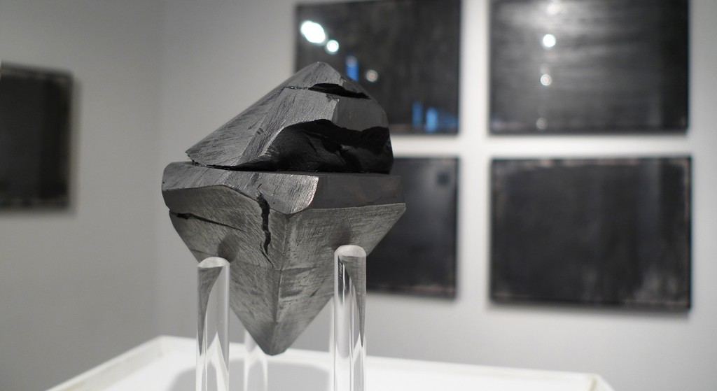 "Eliza Myrie. ""diamond, diamond, graphite,"" graphite and paper, dimensions variable"