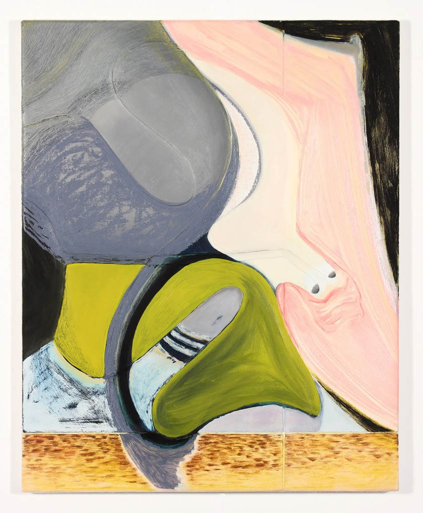 "Magalie Guérin. ""Untitled (hat-profile), 2013-14, oil on canvas"