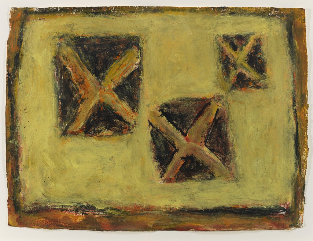 "Milton Resnick. ""X Space,"" 2001, acrylic on paper,  22 ½"" x 30 ½"""