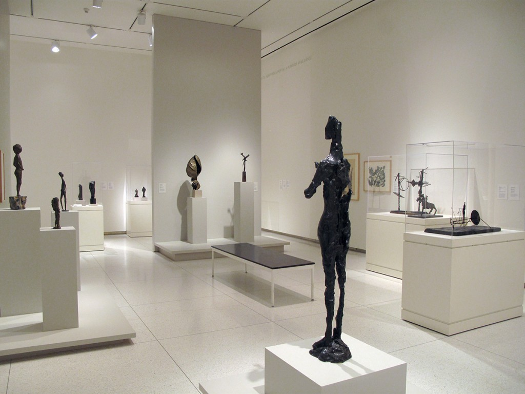 """Carved, Cast, Crumpled: Sculpture All Ways,"" installation view, Smart Museum of Art"