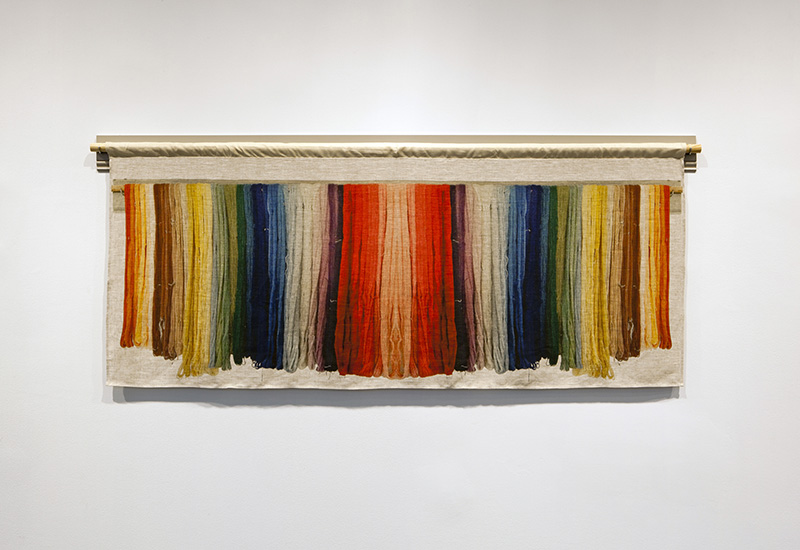 "Allison Smith. ""Hand Dyed Wool, Colonial Williamsburg, Virginia,"" 2014"