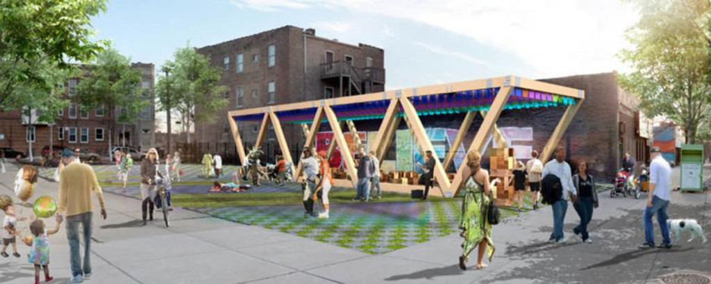 Rendering of the Summer Pavilion at the new public space, courtesy of MAS Studio