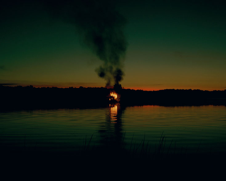 "Carrie Schneider. ""Burning House (March, sunset),"" 2011, C-print"