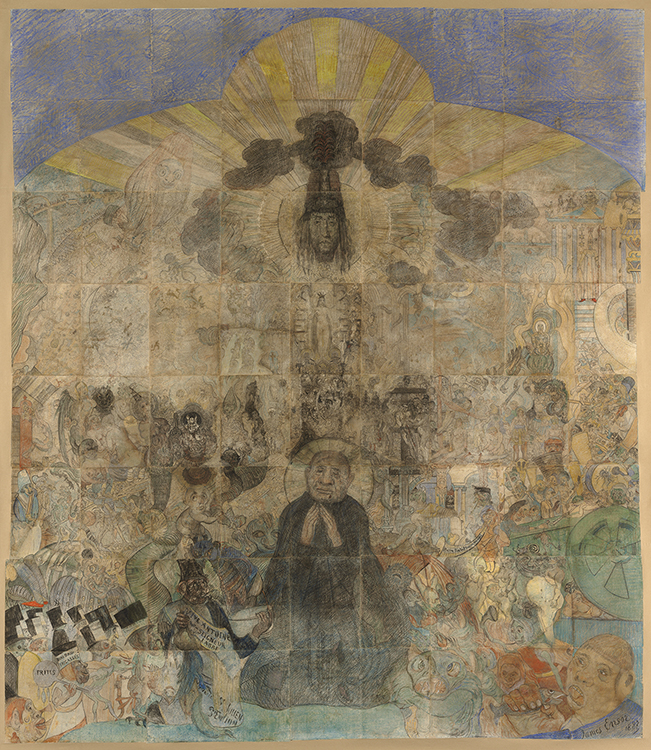 "James Ensor. ""The Temptation of Saint Anthony,"" 1887"