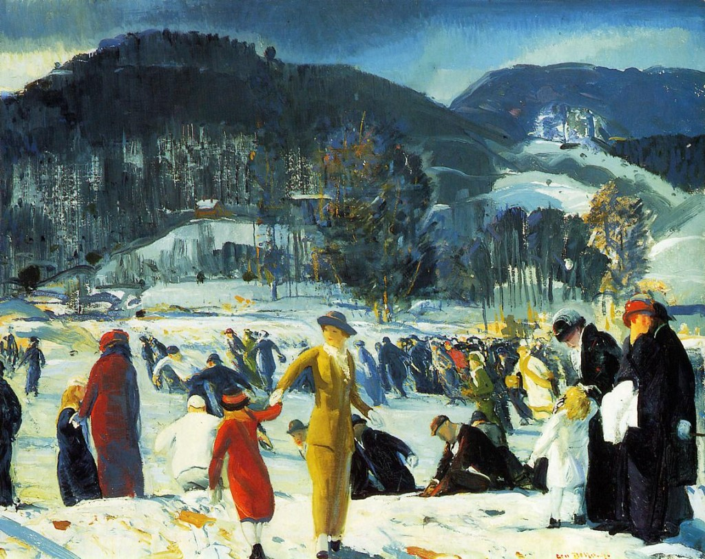 "George Bellows. ""Love of Winter,"" 1914.  Collection of the Art Institute of Chicago"