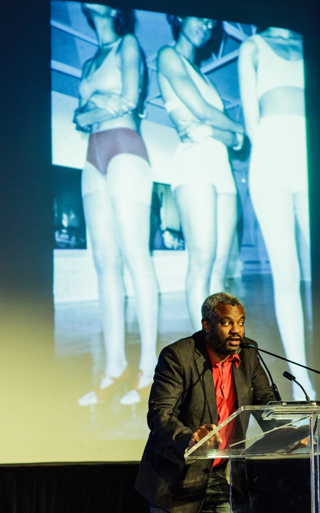 Hamza Walker at the Renaissance Society's benefit gala in October 2014, courtesy of Fadeout Foto.