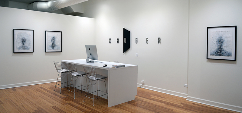 Installation view of Heather Green's upcoming exhibition in Kruger Gallery Chicago's new location