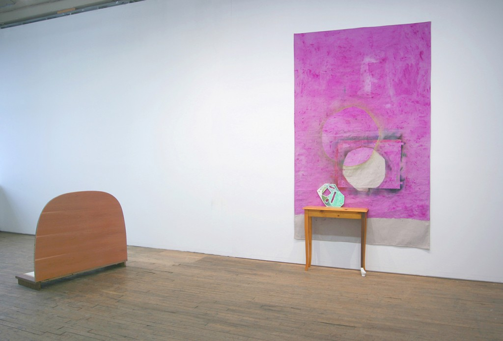 Leslie Baum + Allison Wade. Drunken Geometry, installation view, February 2015.