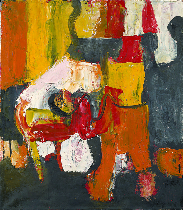 "Charlotte Park. ""Untitled (red, yellow,orange, and black),"" 1950's"