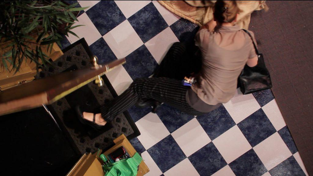 "Lori Felker. ""A Trip to Always Falls,"" 2015, video projection and headphones, 17 minute loop"