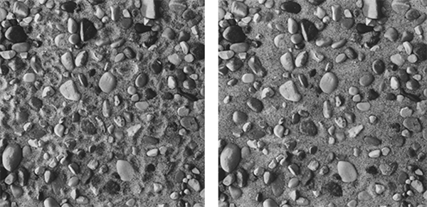 "David Akiba. ""Sand and Stones S/R #2,"" 2000  vintage gelatin silver print, 10"" x 10"" each, diptych"