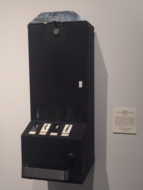 "Charles Swedlund. ""One Cent Antique Candy Bar Vending Machine (Four Figures),"" ca. 1970, gelatin silver prints priced for a dime each, dispensed from vending machine"