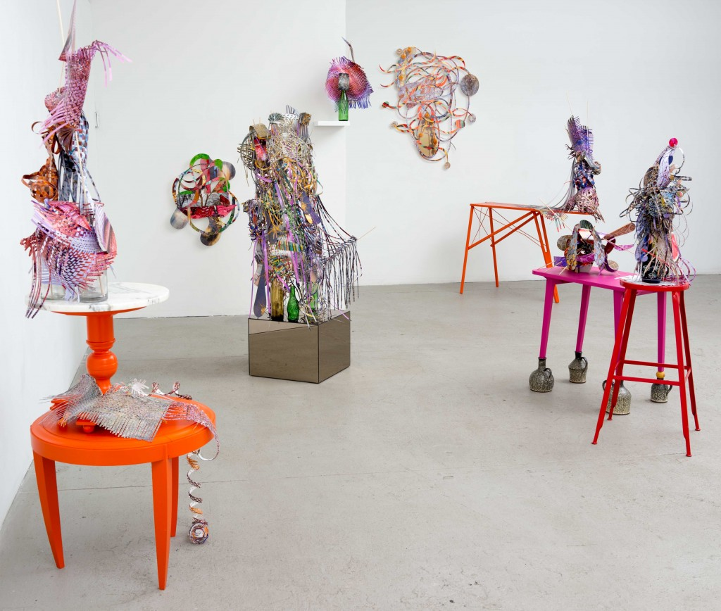 "Installation view of Aimeé Beaubien's ""Twist-flip-tremble-trace"" at Johalla Projects"
