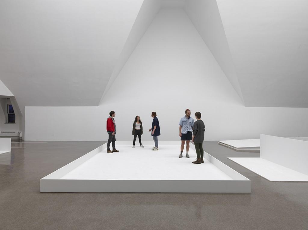 Gabriel Sierra. Installation view at the Renaissance Society, 2015. Photo: Tom Van Eynde