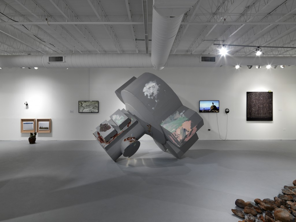 "Installation view of ""Cosmosis"" at the Hyde Park Art Center. Photo by Tom Van Eynde."