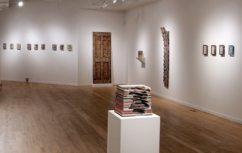"Brian Dettmer's current exhibition at a Packer Schopf Gallery, ""Antisocial Media."" Photo: Sean DiSantis"
