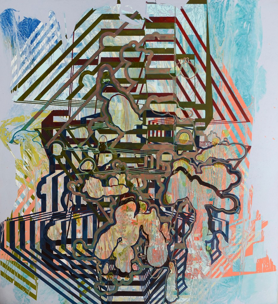 """Linnea Gabriella Spransy. """"Repeat, Like Nothing Ever Has Been,"""" 2015 acrylic on canvas, 78"""" x 72"""""""