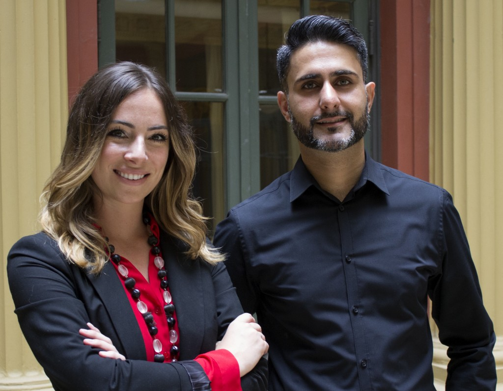 Maria Girgenti and Sam Khan of Gallerique.