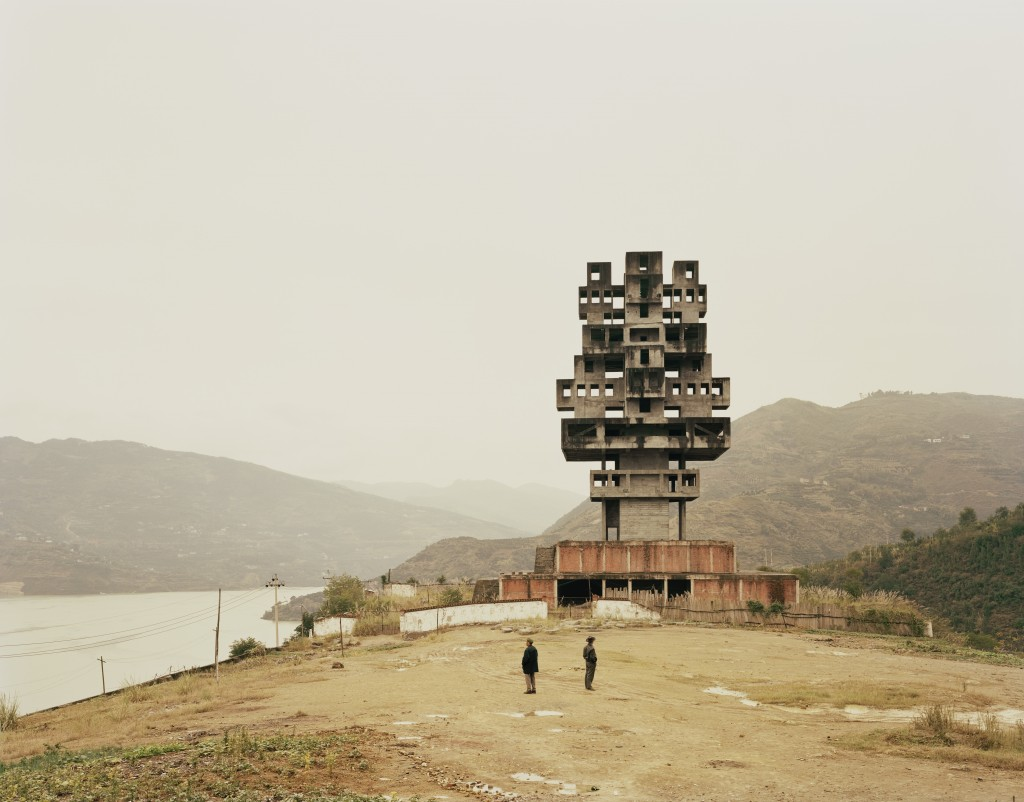 "Nadav Kander. ""Fengine III (Monument to Progress and Prosperity), Chongqing Municipality,"" 2007."