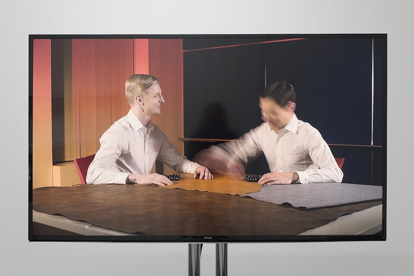 "Geoff Oppenheimer. ""DRAMA,"" 2014–15. 9:16 running time. HD video, presentation carts, electronics."