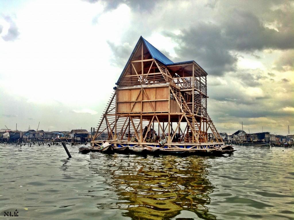 """Kunlé Adeyemi. """"Makoko Floating School, Lagos, Nigeria, """" 2012. Image by NLÉ."""
