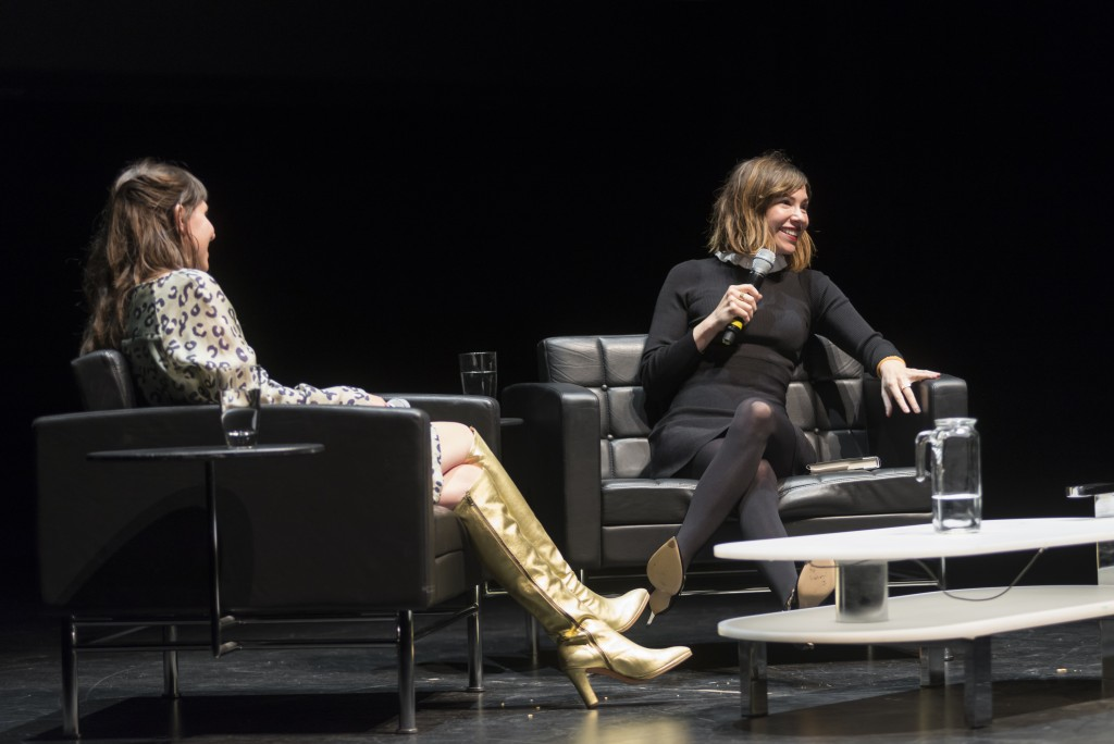 Jessica Hopper and Carrie Brownstein. /Photo: Nathan Keay, © MCA Chicago