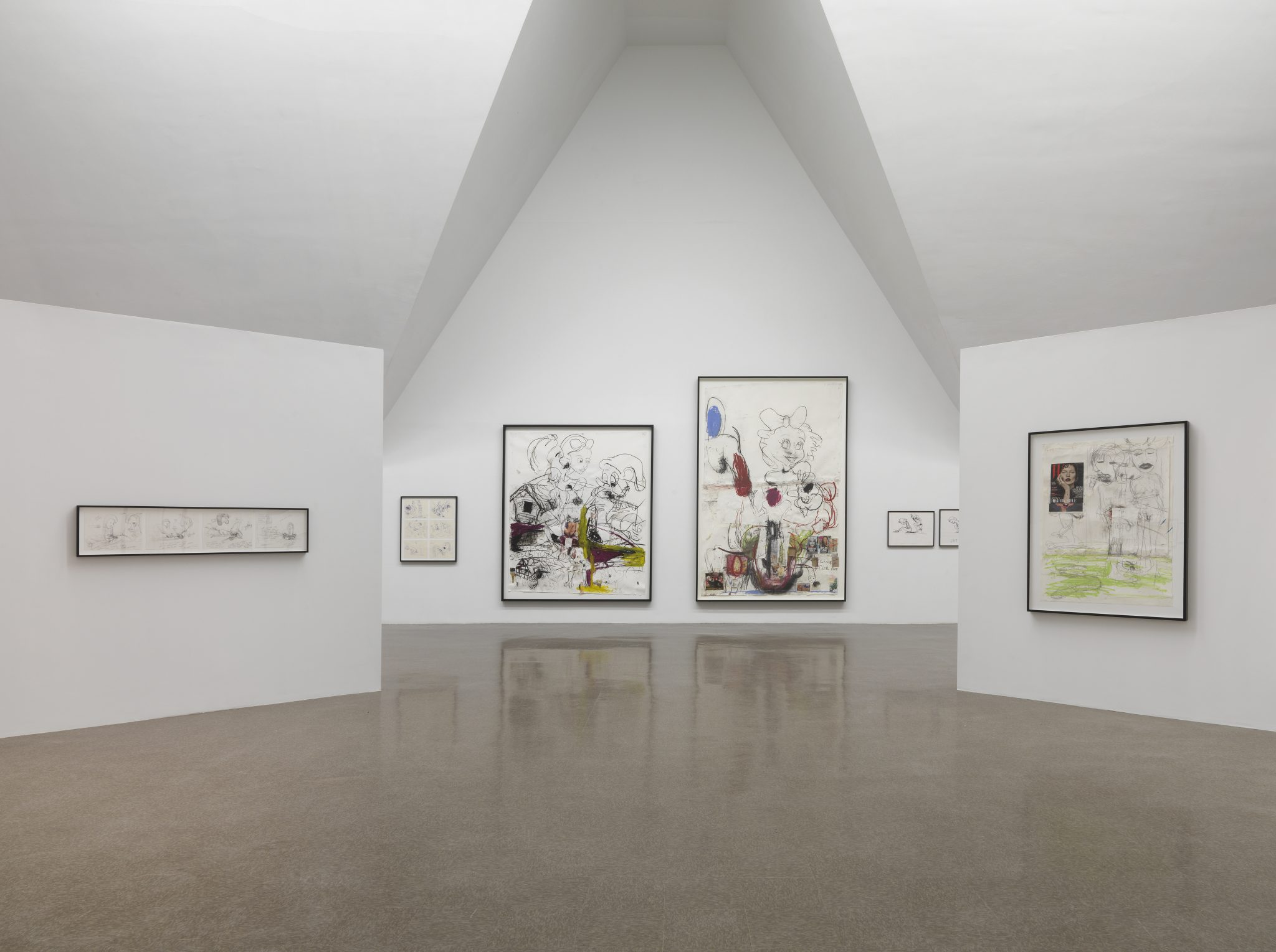 "Paul McCarthy. ""Drawings,"" installation view at the Renaissance Society, 2015."