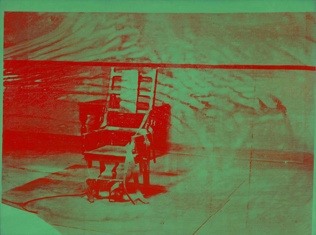 "Andy Warhol. ""Big Electric Chair,"" 1967-68."