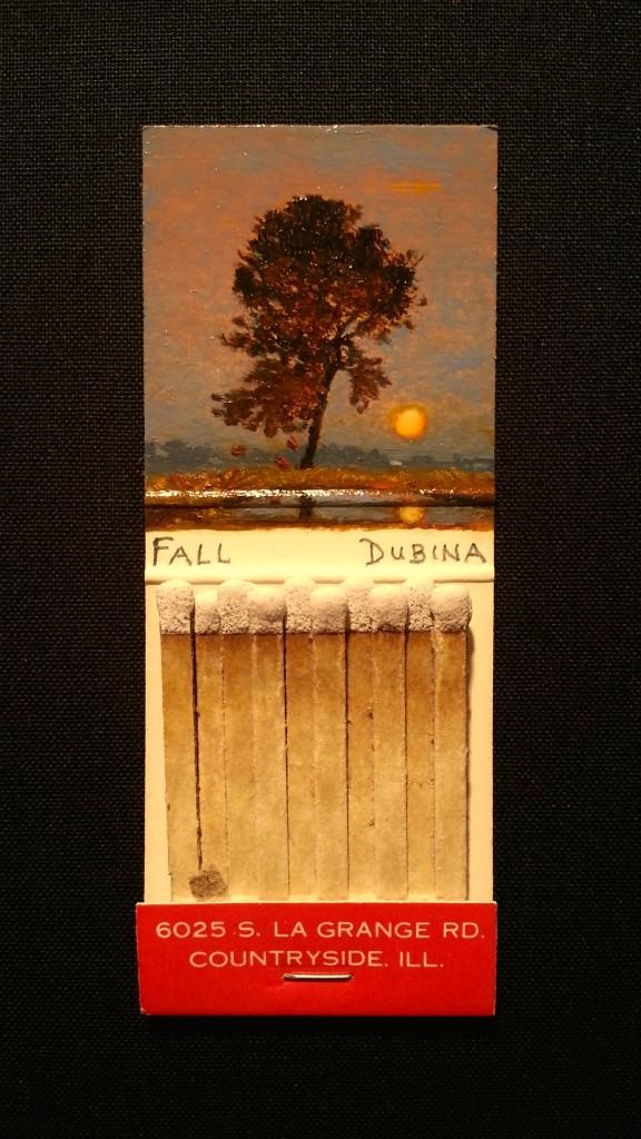 "Michael Dubina. ""Untitled Matchbook,"" 3.75 x 1.5 inches."