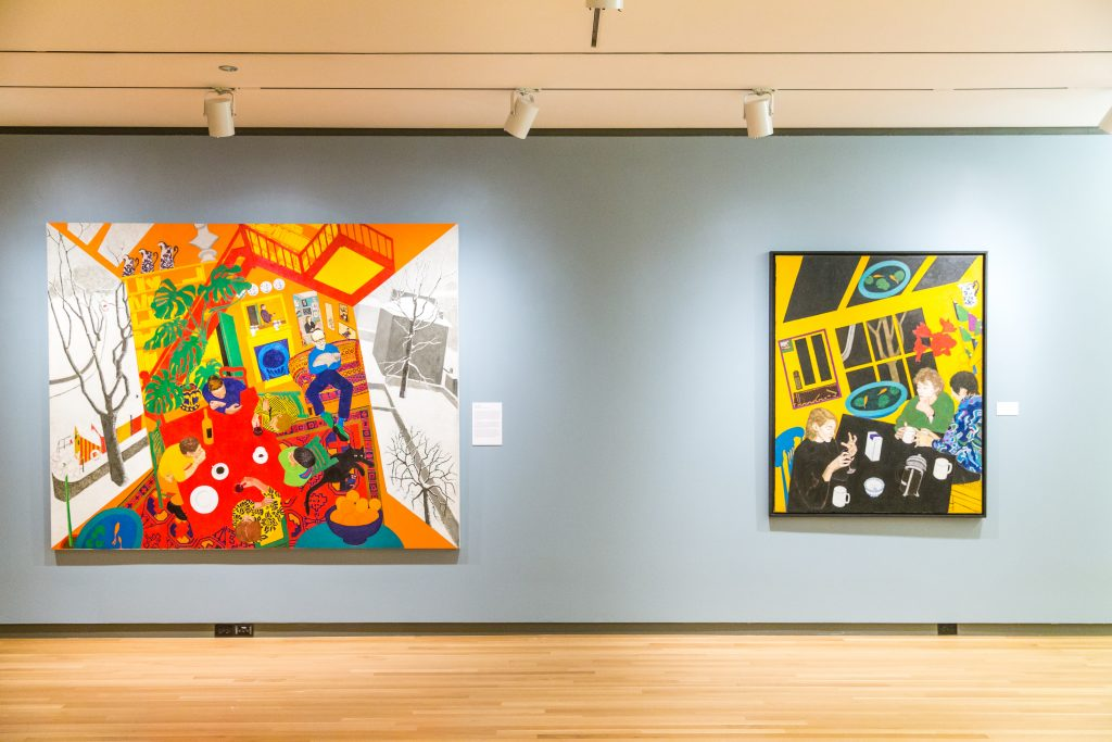 """Installation view of """"William Utermohlen: A Persistence of Memory"""" at the Loyola University Museum of Art. /Photo: Mark Patton."""